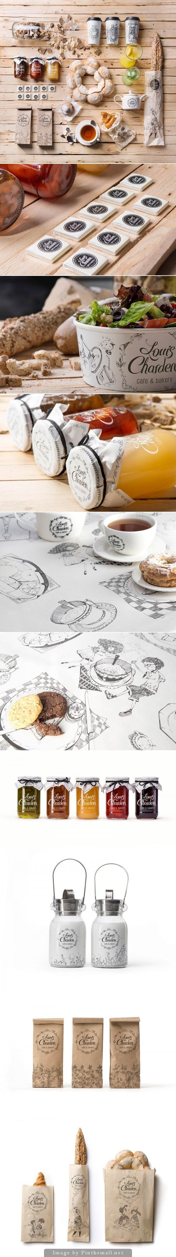 Louis Charden Cafe and Bakery Branding