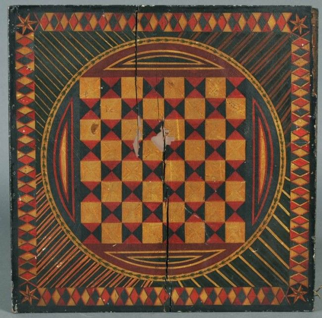 AMERICAN PAINTED GAME BOARD  sold $3,450