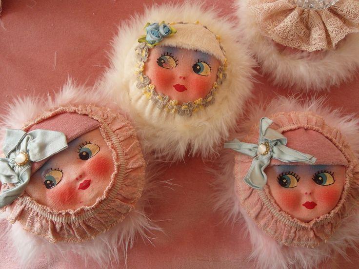 Vintage Powder Puffs -Made by Niki Fretwell