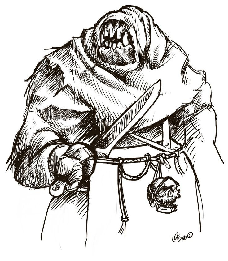 Bryn the troll, ogre monster