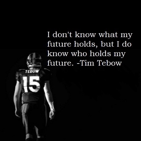 Tebow...Christians everywhere need to keep this young man in your prayers often...the rest are waiting for him to fall...Tim you might fall but we know who forgives and will pick you up! Ask King David in the Bible...a man that loved God with his whole heart!