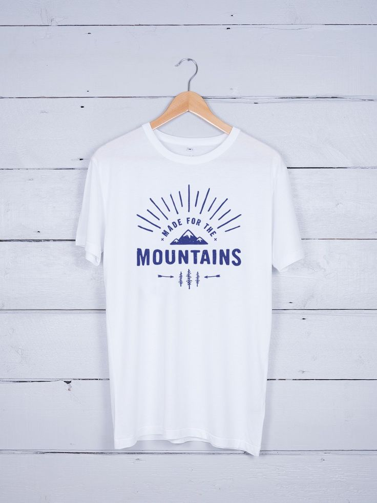 Made For The Mountains Graphic T-shirt by The Level Collective – hand screen-printed in Sheffield on ethically made Bamboo/Organic cotton blend t-shirts.