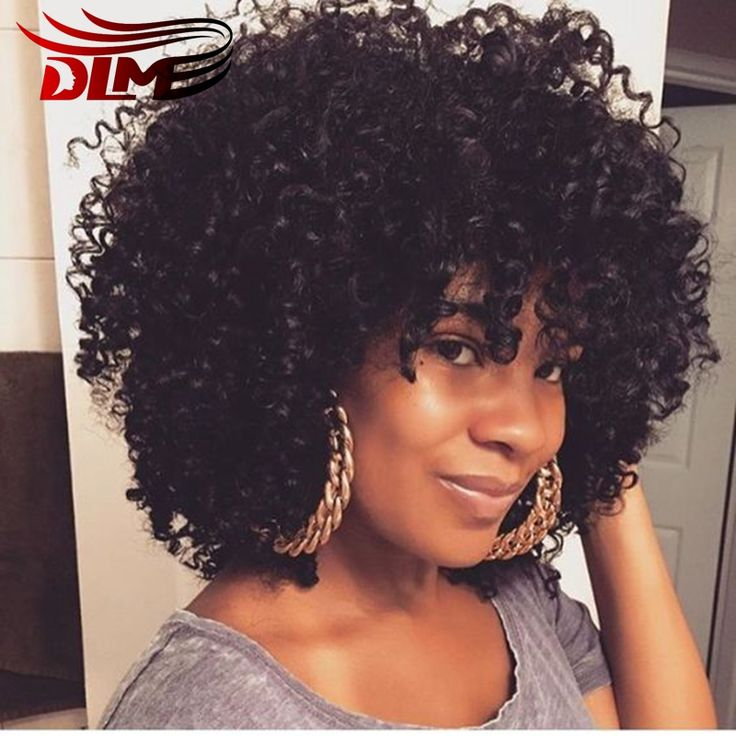 New Arrived Short Afro Curly Wigs Natural Colour Kinky Curly Synthetic Lace Front Wig For Black Women Cheap Afro Kinky Curly Wig