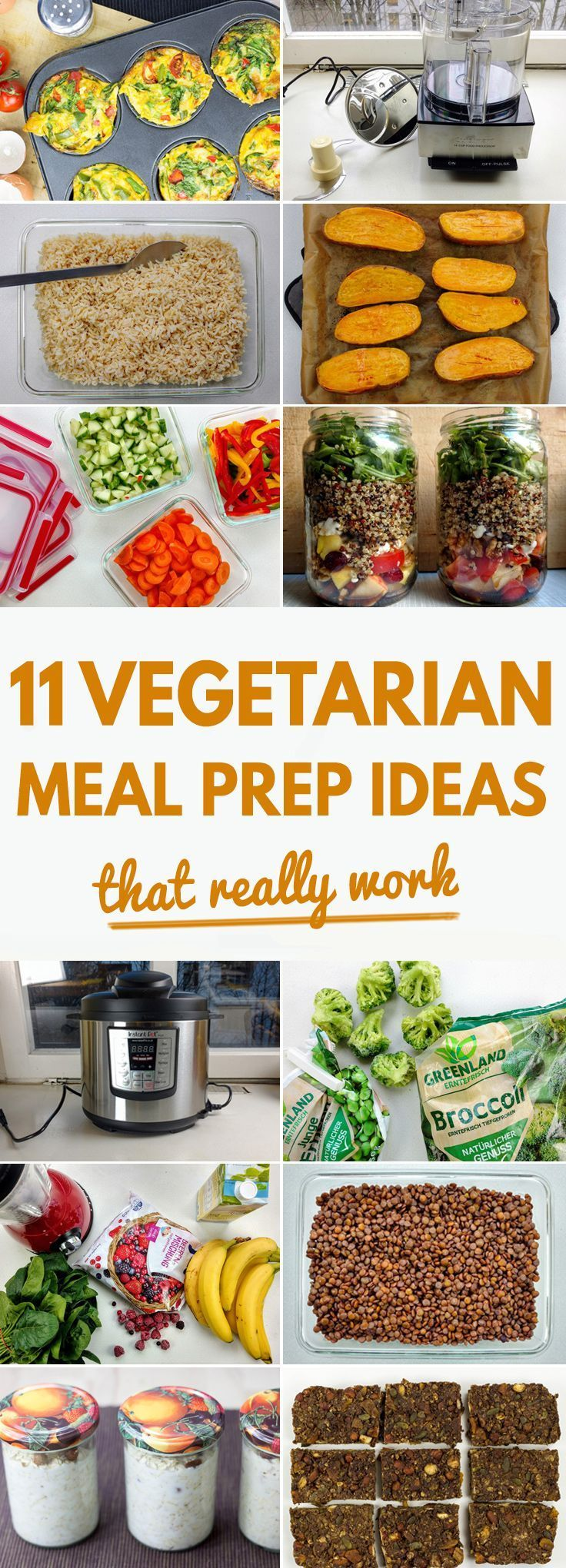 11 Vegetarian Meal Prep Ideas That Really Work | hurrythefoodup.com *veganize