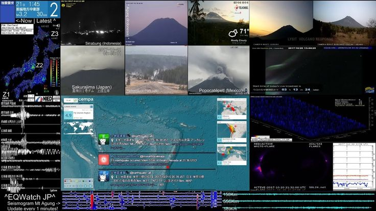 Live Earthquakes Map   Webcam Volcano Mt Agung MultiView