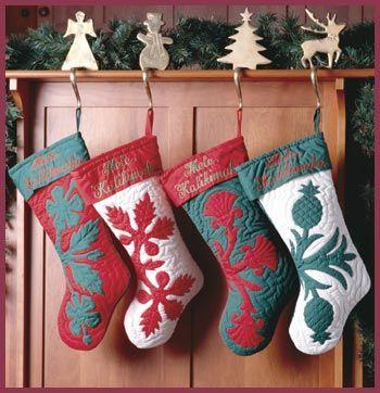 hawaiian quilting-like the Hawaiian quilt patterns on stockings.