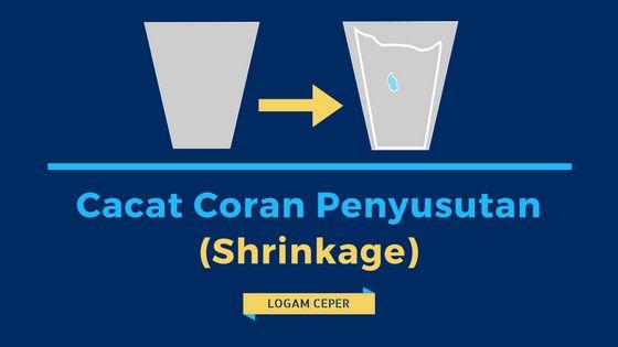 Cacat Coran Penyusutan (Shrinkage) - Logam Ceper