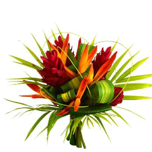 F te des m res bouquet de fleurs exotiques c lin for Bouquet exotique