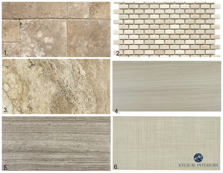 The best tile ideas to update a bathroom, kitchen with almond or bone fixtures such as toilet, shower, tub or sink. Kylie M Interiors E-design