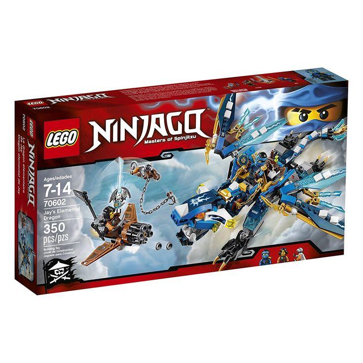 2499 amazoncom lego ninjago jays elemental dragon 70602 toys