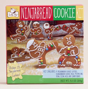 Gingerbread Ninja Cookie Kit - eclectic - specialty tools - Cost Plus World Market