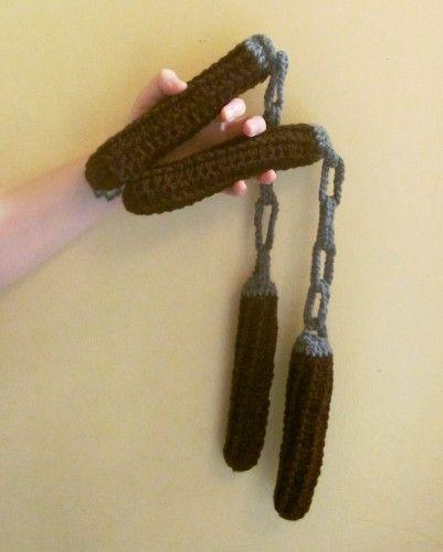 Crocheted Nunchaku Nunchucks soft weapon made to order TMNT Ninja