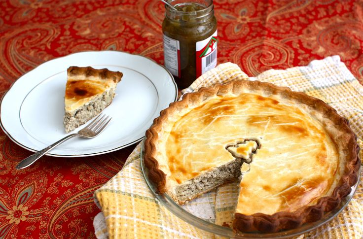 ... French way! Tourtiere meat pie - for good luck in the new year