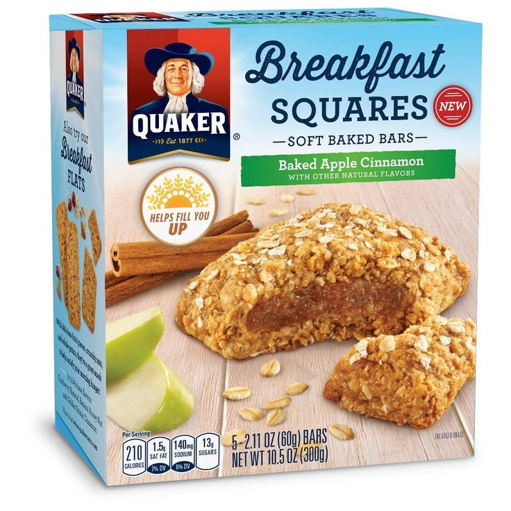 Quaker Breakfast Squares Apple Cinnamon - 5ct 10.5oz