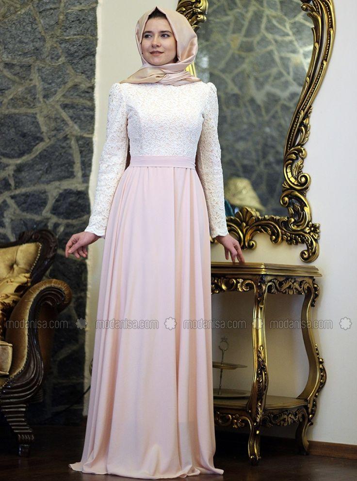 Marin Elbise- Ekru-Pudra - Mevra