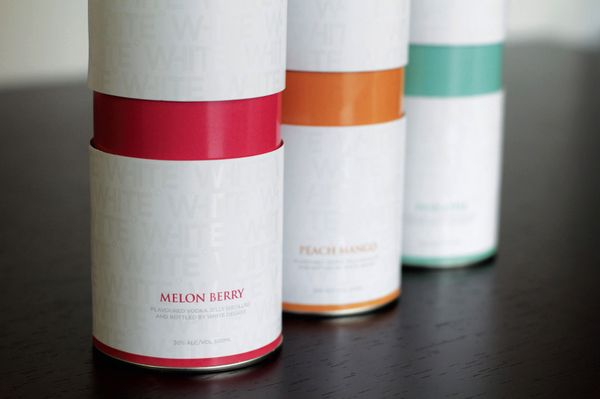 The creation of 'White Degree' as a brand had a clear design direction to represent the vodka brand being pure, white and light. The design is heavily white based with clear gloss patterned cylinders and hints of colour to distinguish flavours.
