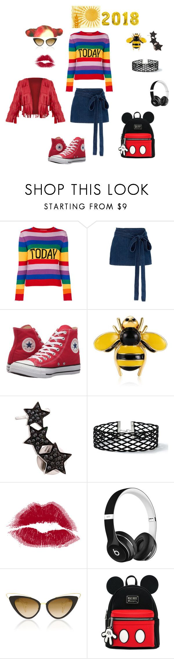"""today"" by yeniinciayla on Polyvore featuring moda, Alberta Ferretti, J.W. Anderson, Converse, Alinka, Miss Selfridge ve Beats by Dr. Dre"