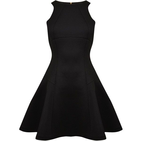 Ted Baker Cidia Skater Dress (7.895 RUB) ❤ liked on Polyvore featuring dresses, vestidos, short dresses, black, special occasion dresses, mini dress, short black dresses and black mini dress