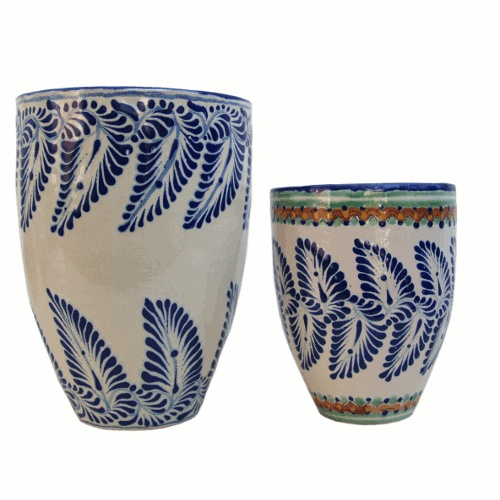 Our talavera vases mix traditional designs with contemporary forms for an amazing look!