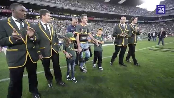Joost vd Westhuizen - Rugby captain from south african national team, standing and walking for a few minutes after he has been diagnosed with ASL a few years ago.