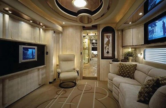 tv inside the caravan