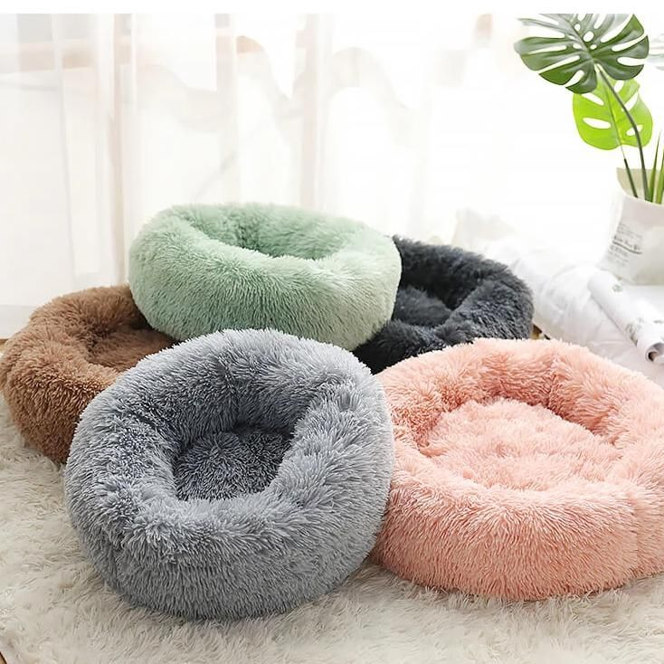 Rainbow Marshmallow Cat Bed Round Plush Cat Bed Aipaws In 2020 Dog Bed Cat Bed Pet Bed