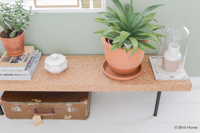 Stylingtip salontafel als plantentafel #kurk #sinnerlig ©BintiHome @ikea