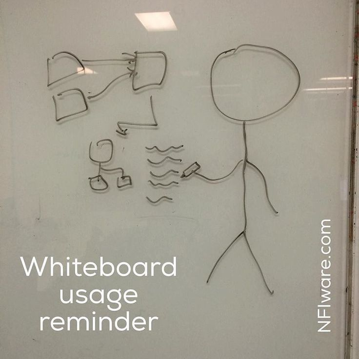 #whiteboard was blank, so drew a reminder how to use #whiteboards #cartoon #drawing #whiteboardusageremindee #NFIware