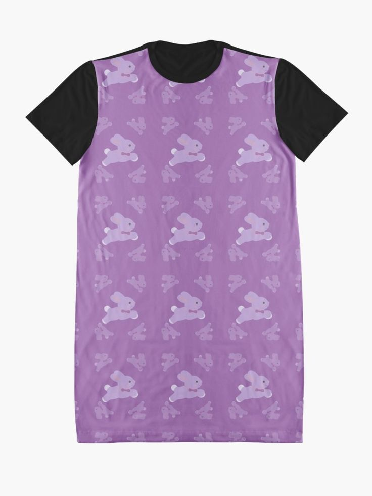 """SOLD! """"Baby Bunny Girl"""" Graphic T-Shirt Dress by scardesign11. MAny Thanks to the buyer!! #dress #bunny #Easter #easterbunny #graphicdress #graphic #clothing #shopping #fashion #style #gifts #giftideas #eastergifts #women #womensfashion #purple #pink #redbubble"""