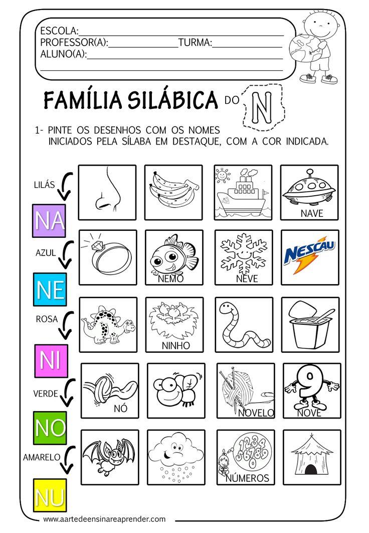 A Arte de Ensinar e Aprender: Atividade pronta - Família silábica do N