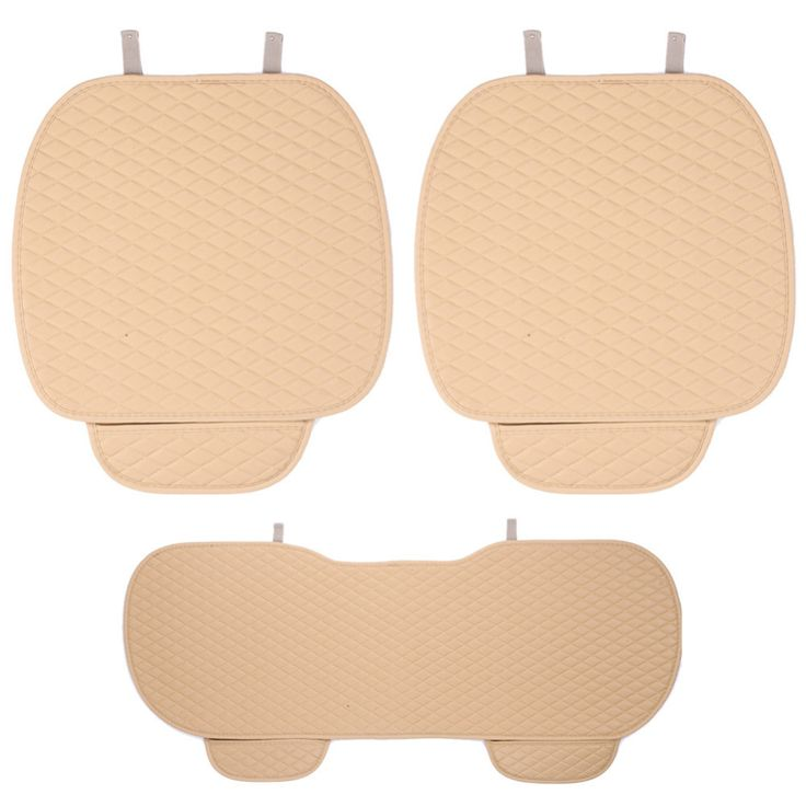 3pcs Universal Leather Car Seat Cover 2X Front Seat Covers+1pcs Backseat Seat Cover Leather Car Cushion Styling for most cars