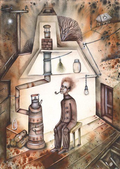 SOLD. Winter Evening by Eugene Ivanov, watercolor on paper, 29 X 41 cm. #eugeneivanov #@eugene_1_ivanov #modern #original #oil #watercolor #painting #sale #art_for_sale #original_art_for_sale #modern_art_for_sale #canvas_art_for_sale #art_for_sale_artworks #art_for_sale_water_colors #art_for_sale_artist #art_for_sale_eugene_ivanov