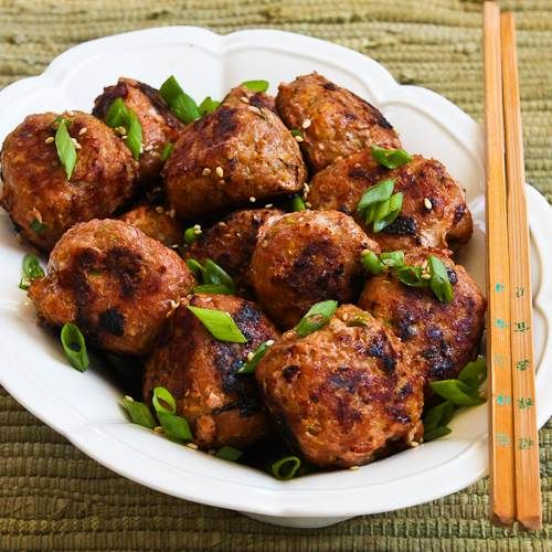 Recipe for Grilled Sriracha-Sesame Turkey Meatballs [#SouthBeachDiet ...