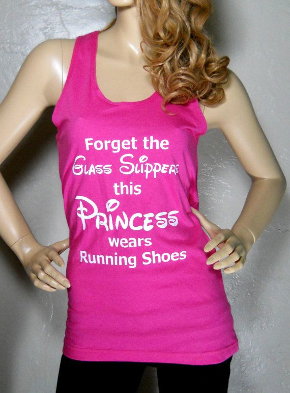 Forget the Glass Slipper this Princess wears Running Shoes Tank Race Junkie on Etsy on;y $23.99 Perfect for run Disney https://www.etsy.com/shop/RaceJunkie