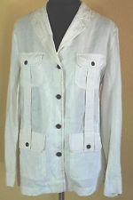 ELENA MIRO Leinen Jacke Mantel Bluse Blazer vintage 40 42