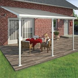 Toit terrasse aluminium Aurore 4 x 4.2 m - Avancée 4M - Blanc - Plantes et Jardins