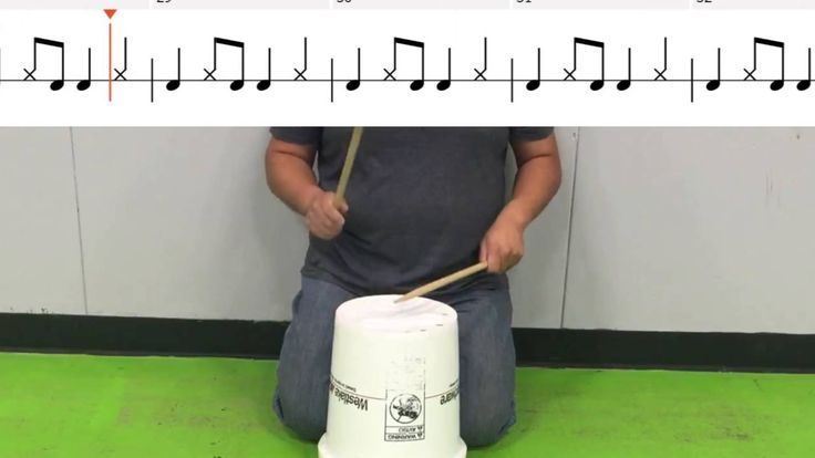 Uptown Funk Elementary Bucket Drum Follow Along