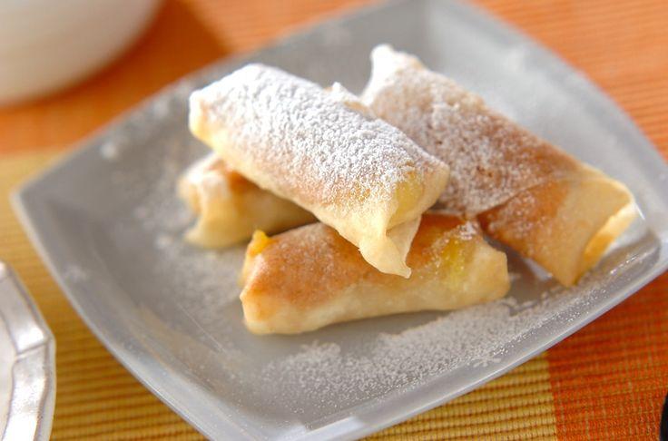 バナナとピーナッツバターの相性は抜群! 揚げたてを是非!ピーナッツバナナ揚げ[洋菓子/その他洋菓子]2010.05.10公開のレシピです。