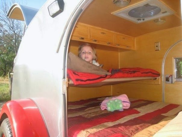 Tiny Yellow Teardrop: Teardrop Trailer Camping with Children