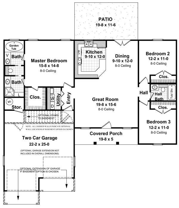 Open floor plans with basements cottage plans daylight for Daylight basement ranch house plans