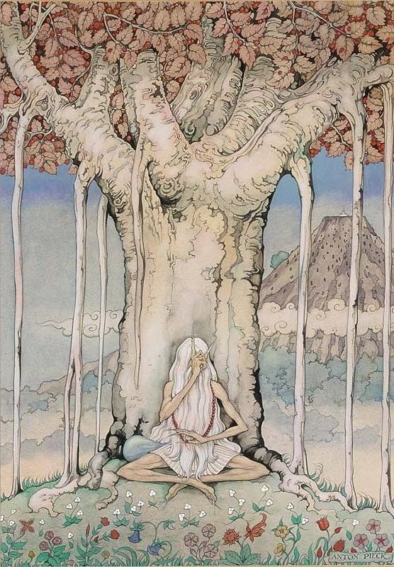 Anton Pieck (Dutch, 1895-1987). Illustration from Stories from the Arabian Nights.