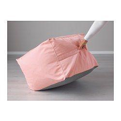 IKEA - JORDBRO, Sitzsack, Edum hellrosa, , Leicht sauber zu halten - der abnehmbare Bezug kann in der Maschine gewaschen werden.