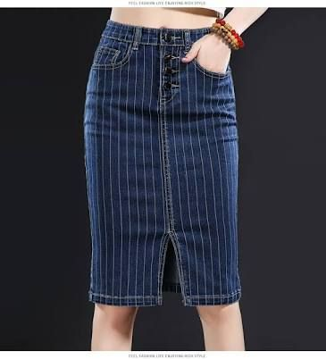 denim skirts detail - Google Search