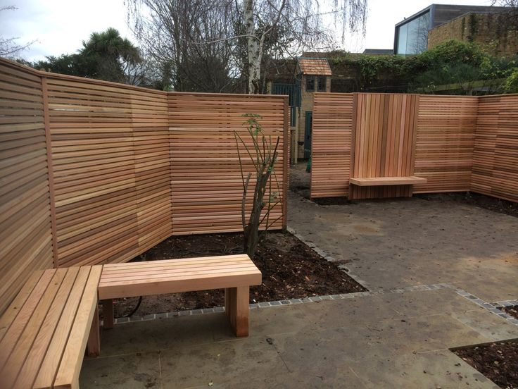 44 best wood fence ideas images on pinterest decks wood fences horizontal cedar fencing used in contemporary garden workwithnaturefo