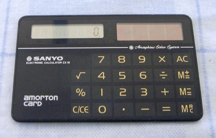 >>> SANYO CX-16 Solar Calculator, Vintage <<< | eBay