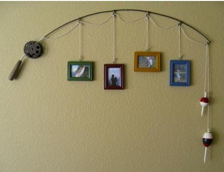 Tem uma vara de pesca a toa em casa? Que tal usá-la na decoração?