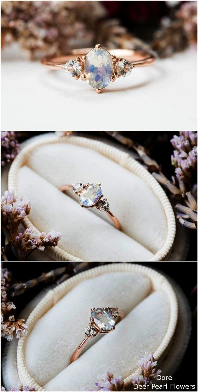 Diamond Wedding Stackable Baguette Polished Alternative Engagement Rings Wedding Rings Vintage Three Stone Engagement Rings