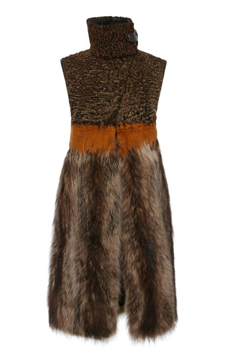 Marmot Long Vest FW14 by Salvatore Ferragamo for Preorder on Moda Operandi