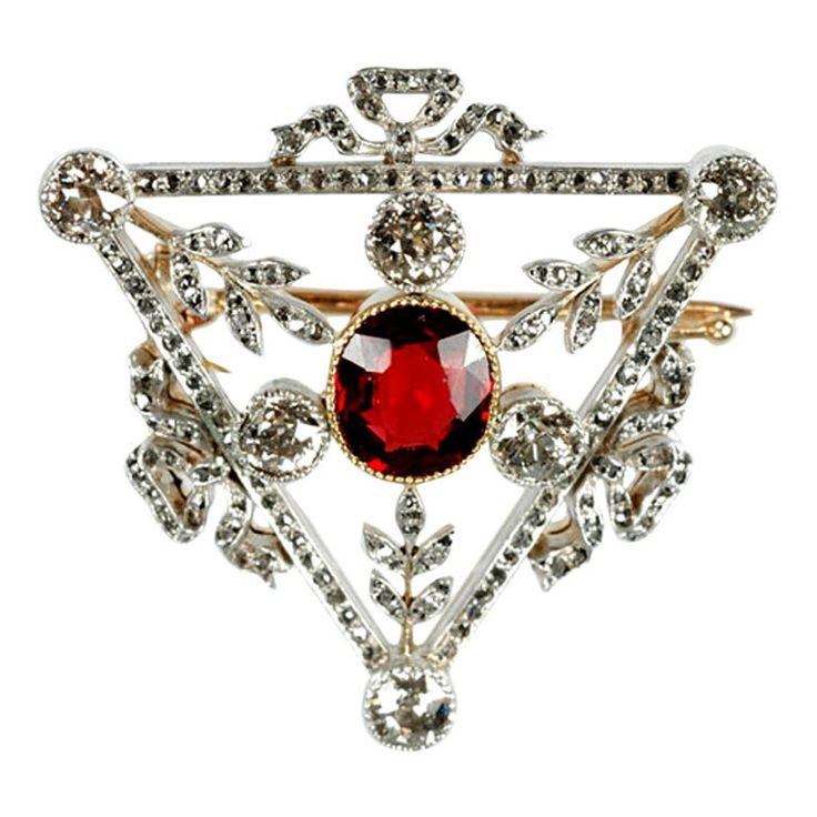 FABERGE Triangular Brooch