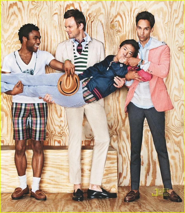 Hot men of Community!  Donald Glover, Joel Mchale, Ken Jeong and Danny Pudi. Danny looks great here ;)